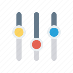 adjustment, control, music, player icon