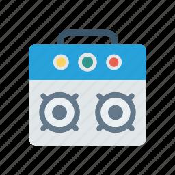 cassette, radio, speaker, tape icon
