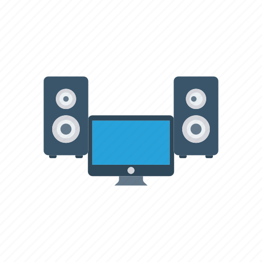 computer, music, song, speaker icon