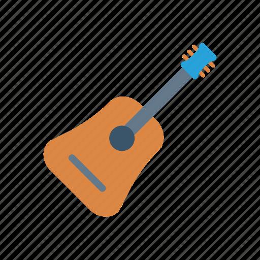 audio, guitar, instrument, music icon