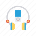 audio, headphone, headset, song icon