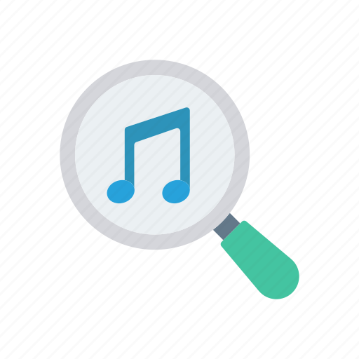 magnifier, melody, music, search icon