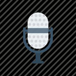 audio, mic, mike, voice icon