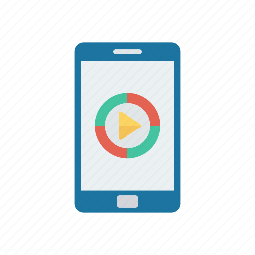 device, mobile, phone, video icon