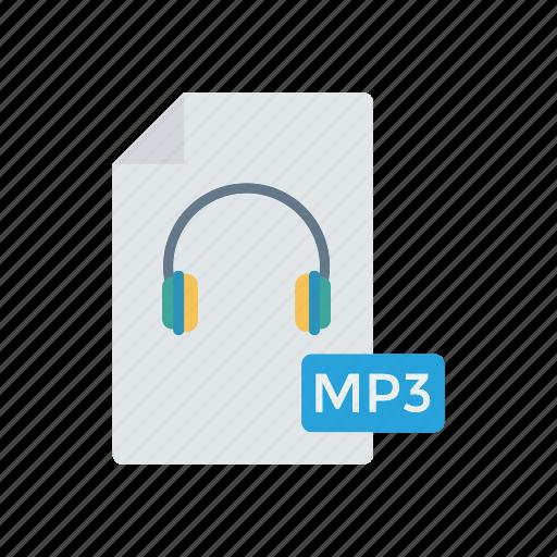doc, file, mp3, music icon