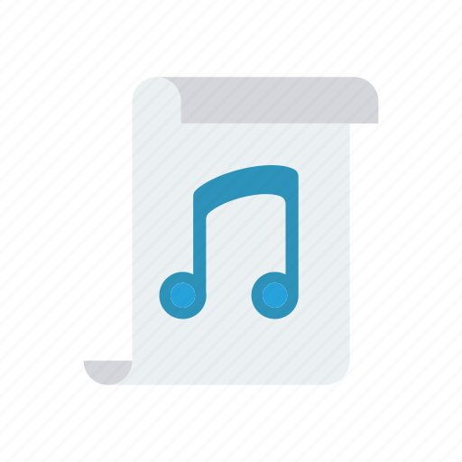file, melody, music, page icon