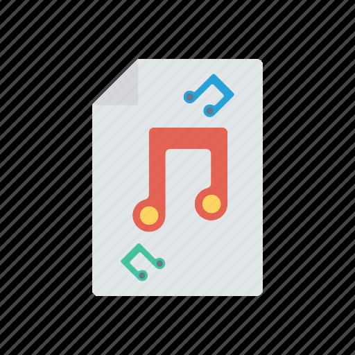 doc, files, music, record icon