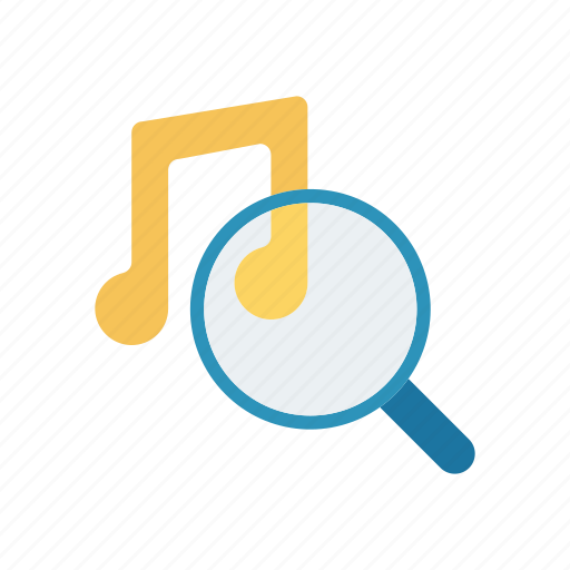 audio, magnifier, music, search icon