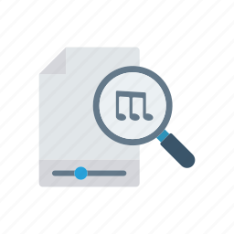 file, music, player, song icon