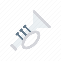 brass, instrument, trumpet, wind icon