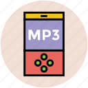 audio player, ipod, mp3, mp3 player, music player icon