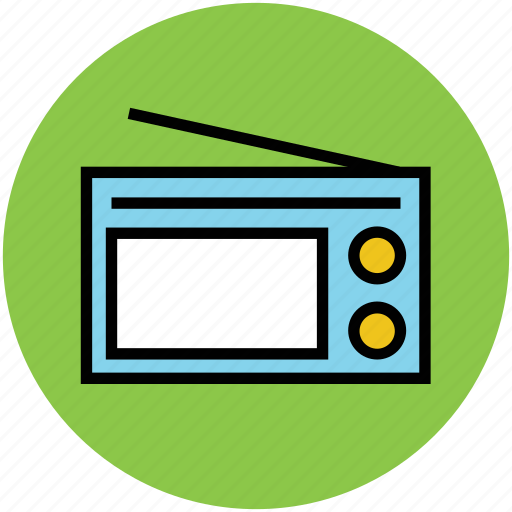 broadcasting, entertainment, fm, music, radio set, wireless icon