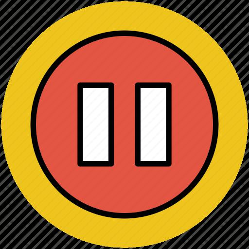 media, pause, standby, still, stop icon