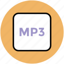 media, mp3, mp3 format, multimedia, music icon