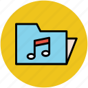 media folder, music, musical folder, songs, songs collection, sound icon