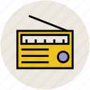 broadcasting, entertainment, fm, music, radio set, wireless icon
