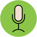 mic, microphone, musical instrument, radio mic, wireless microphone icon