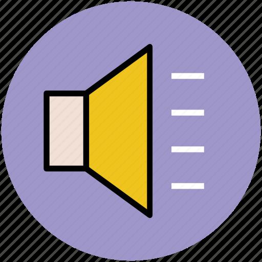 audio, loud, loudspeaker, sound, speaker, volume icon