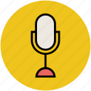 mic, microphone, mike, radio mic, sound recorder, studio mic icon