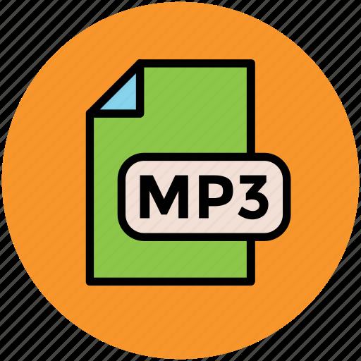 file format, mp3 file, music file, music format, musical icon
