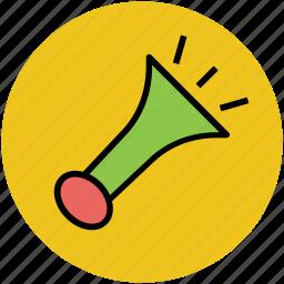 advertising, announcement, audio, loudspeaker, megaphone, music, notification, sound icon