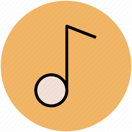 classic, eighth note, music sign, musical note icon