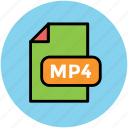 file format, mp4 file, music file, music format, musical icon