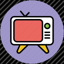 antenna, old, retro television, retro tv, television set, tv set, vintage icon
