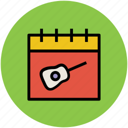 calendar, guitar calendar, infographic element, music calendar icon