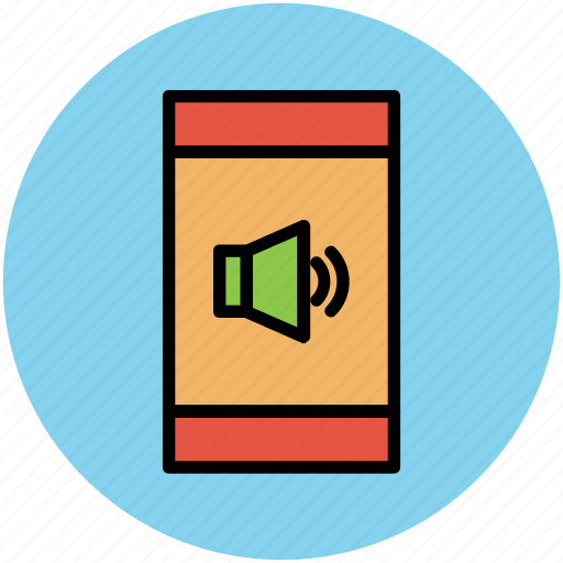 media, mobile screen, music, songs, volume sign icon