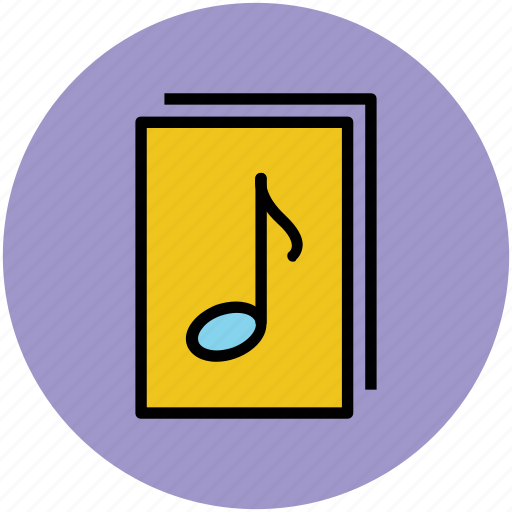 music, music files, musical files, playlist, songs list icon