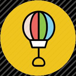 ballooning, flying, fun, hot air balloon, journey, travel icon