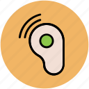 ear speaker, hearing, hearing instrument, listen tool, loudness icon