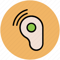 ear speaker, hearing, hearing instrument, listen tool, loudness icon
