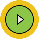 film, media, media play, media player, multimedia, player icon