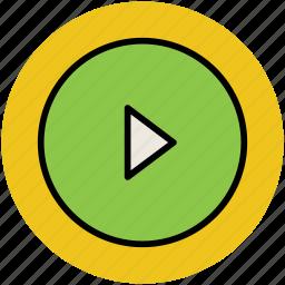 film, media, media play, media player, multimedia, player icon