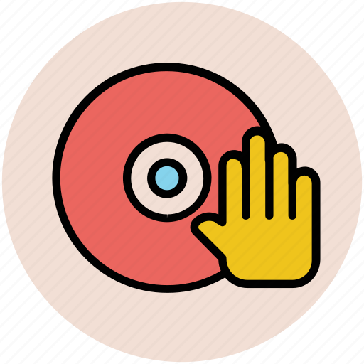 cd, disk, hand sign, media, multimedia, play cd icon