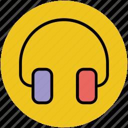 amplifier, dj, ear bud, ear speaker, earphone, headphone, headset, music icon