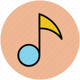 eighth note, music node, music sign, music symbol, musical note icon