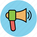 audio, megaphone, sound, speaker, volume icon