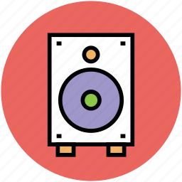 loudspeaker, music, sound, sound box, speaker, subwoofer, woofer icon