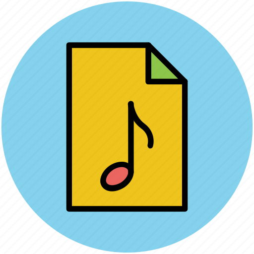 music, music file, musical file, playlist, songs list icon