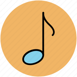eighth note, music note, music sign, music symbol, musical note icon