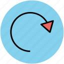 arrow circle, hint, indication, refresh, reload icon