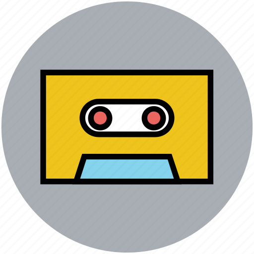 audio cassette, audio tape, cassette, multimedia, retro icon
