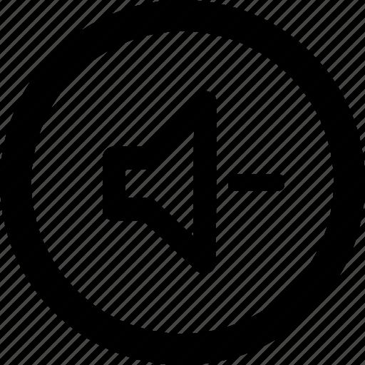 audio, down, media, music, volume icon