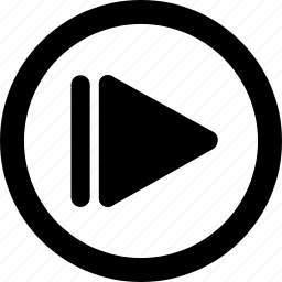 audio, forward, media, music, sound icon