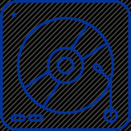 box, cd, music, player icon