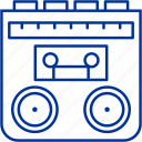 cassete, music, radio, tape icon