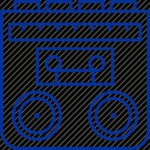 cassete, music, radio, tape icon